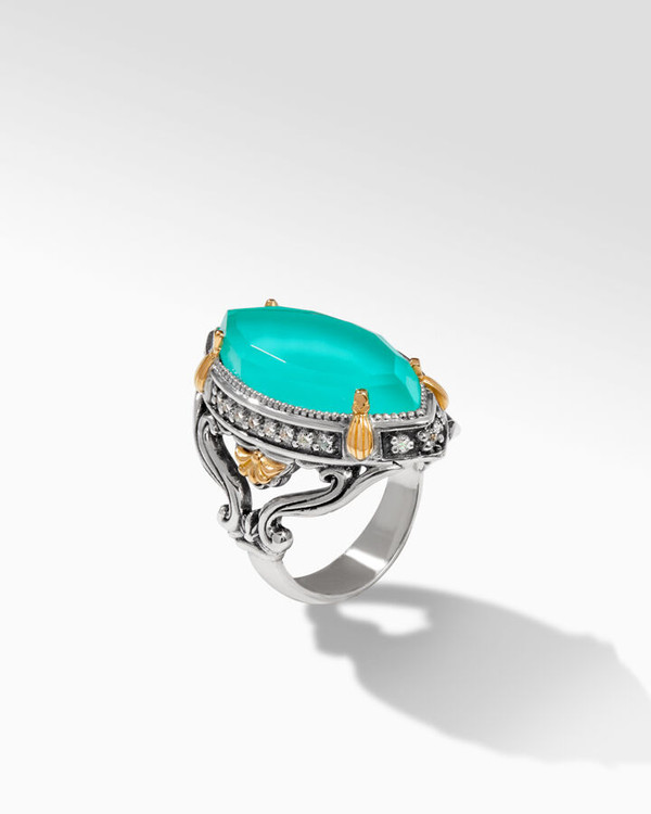 *TRUNK SHOW* Konstantino Sterling Silver and 18K Gold Lotus Ring