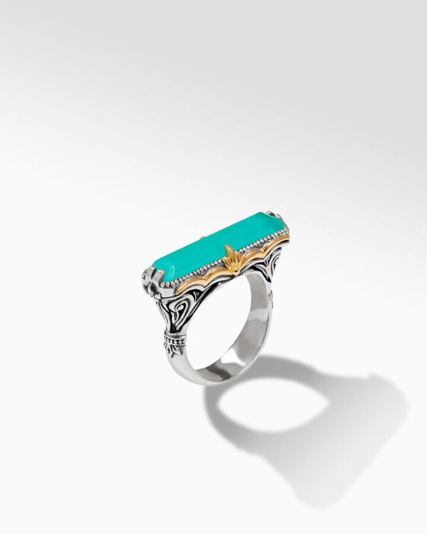 *TRUNK SHOW* Konstantino Sterling Silver and 18K Gold Lagoon Stripe Ring