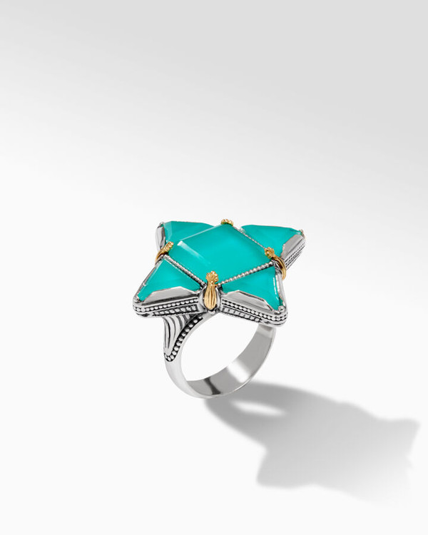 *TRUNK SHOW* Konstantino Sterling Silver and 18K Gold Water Starlet Ring