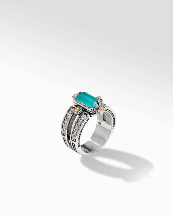 *TRUNK SHOW* Konstantino Sterling Silver and 18K Gold Empress Ring