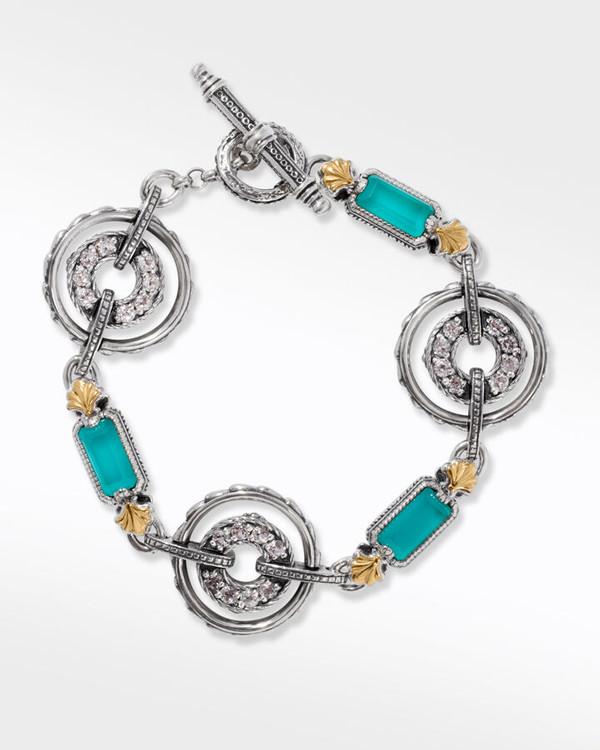 *PRE-ORDER* Konstantino Sterling Silver and 18K Gold Water Ring Bracelet