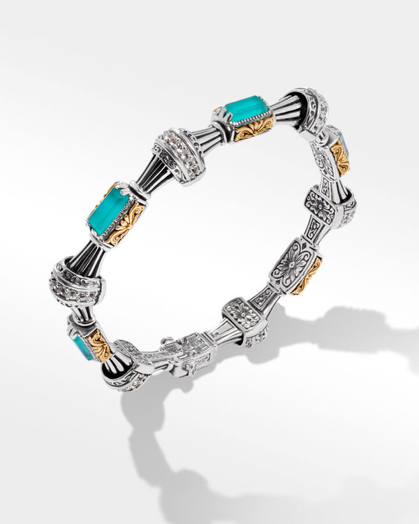 *TRUNK SHOW* Konstantino Sterling Silver and 18K Gold Aquatic Coronet Bracelet