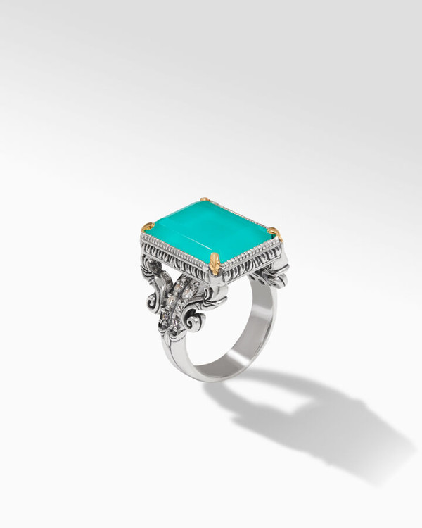 *TRUNK SHOW* Konstantino Sterling Silver and 18K Gold Lagoon M Ring