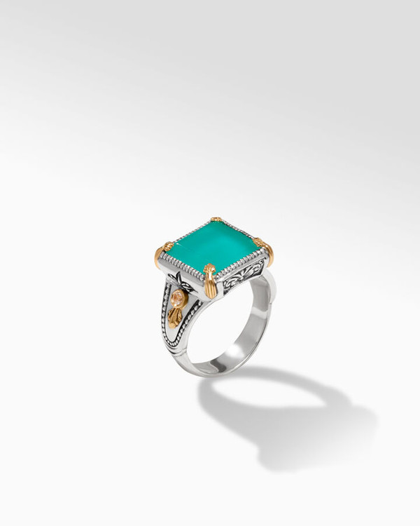*TRUNK SHOW* Konstantino Sterling Silver and 18K Gold Lagoon S Ring