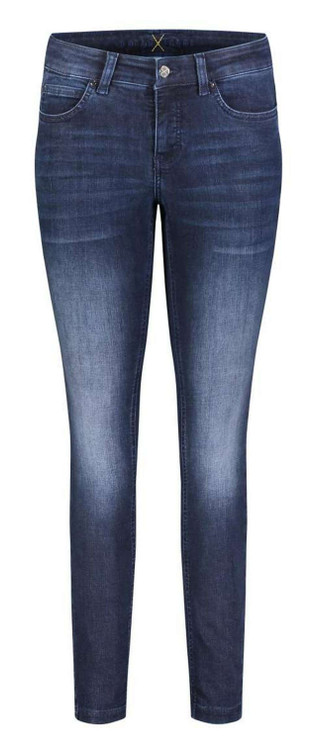 MAC Dream Skinny Authentic Jeans in Basic Slight Used Blue