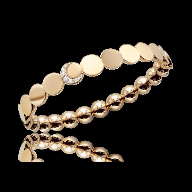 *PRE-ORDER* Pasquale Bruni 18K Rose Gold Luce Half Moon Medium Diamond Bracelet