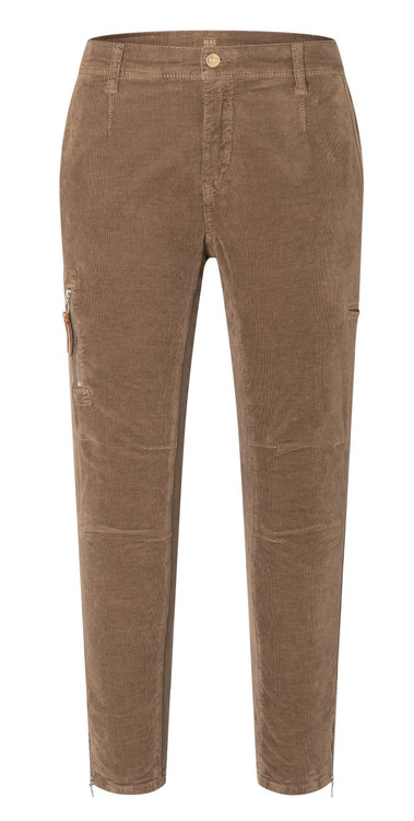 MAC Rich Cargo Corduroy Pants in Chocolate Mousse