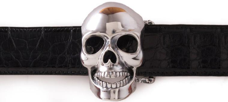 Jeff Deegan Sterling Silver Skull Buckle