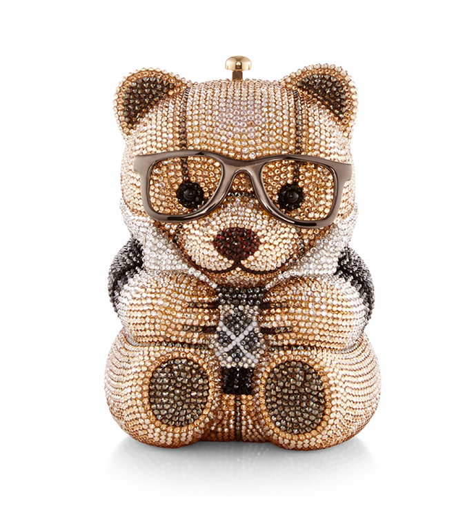 Judith Leiber Couture Spencer Teddy Bear Handbag