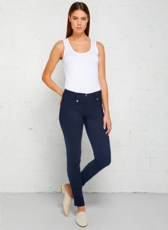 Anatomie Travel Pant High Rise Skyler Navy