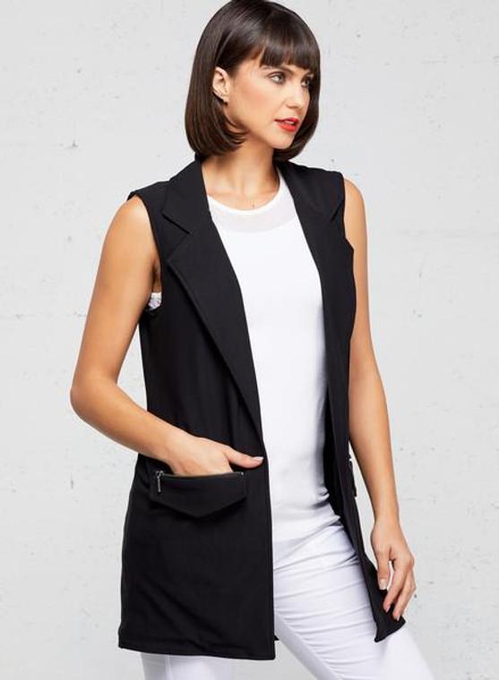 Anatomie Solange Knit Moto Vest Black