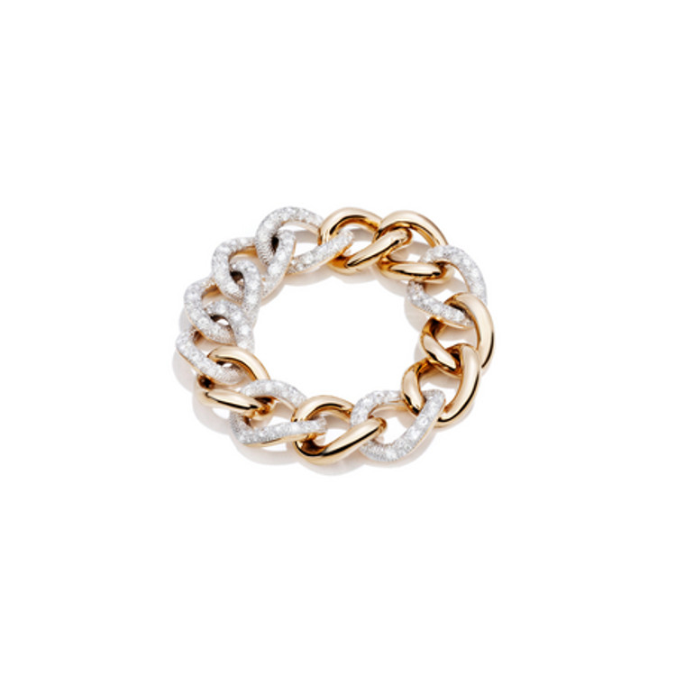 Pomellato  Chain Link 18K Rose Gold Diamond Tango Bracelet