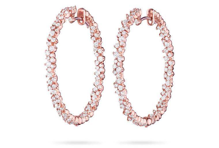 Paul Morelli Confetti Pink Gold  Medium Hoop Earring