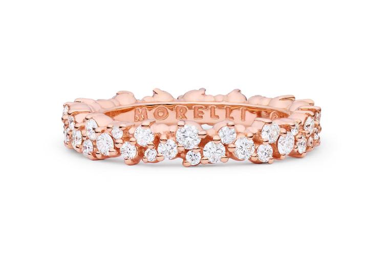 Paul Morelli Confetti Pink Gold and Diamond Small Ring