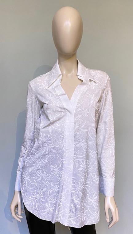 Chiara Boni La Petite Robe Flower Shadow White Atena Top