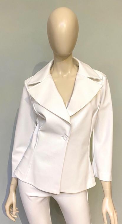 Chiara Boni La Petite Robe White Gegena Jacket