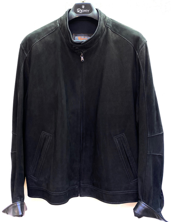 Remy Leather Men's  Leather Jacket- Shadow/Noir