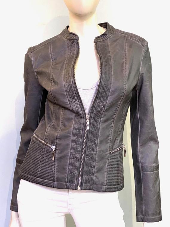 Rino & Pelle Livana Faux Leather Jacket in Grey