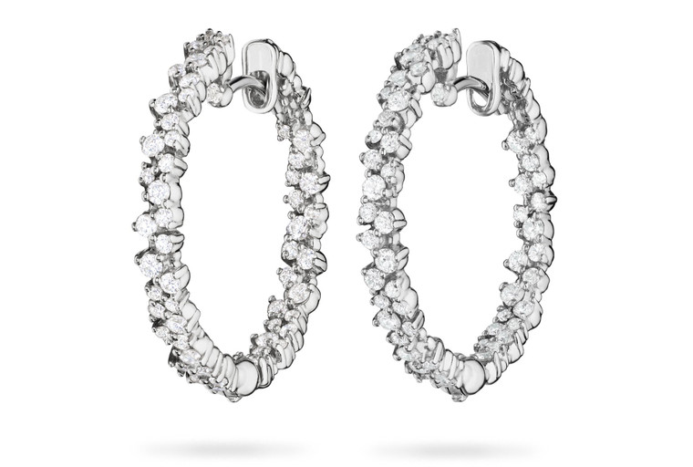 Paul Morelli Confetti White Gold Small Hoop Earring