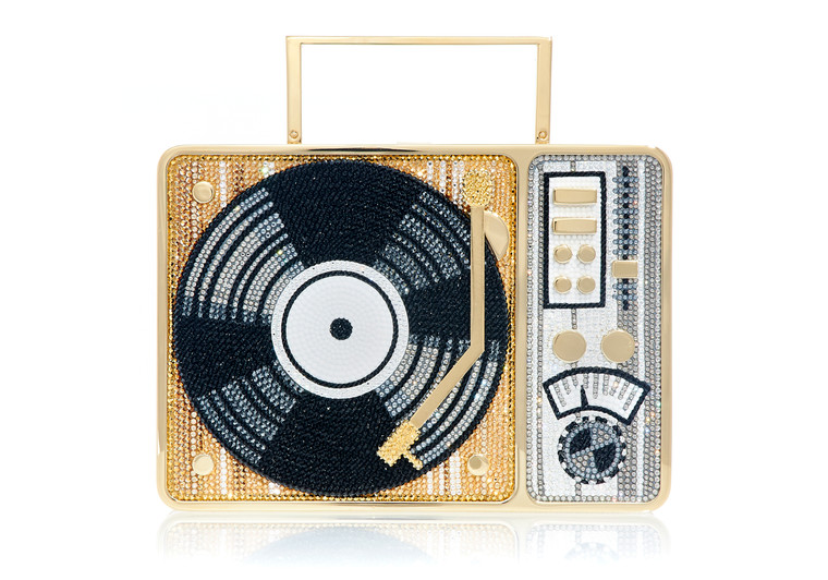 *New Pre-Order Holiday Collection*Judith Leiber Couture  Turntable Scratch Clutch Bag