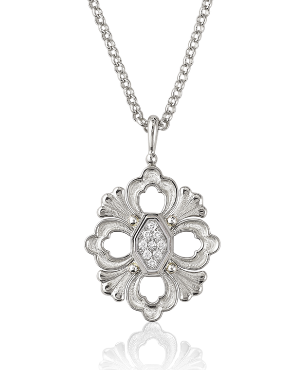 Buccellati Opera Pendant in White Gold