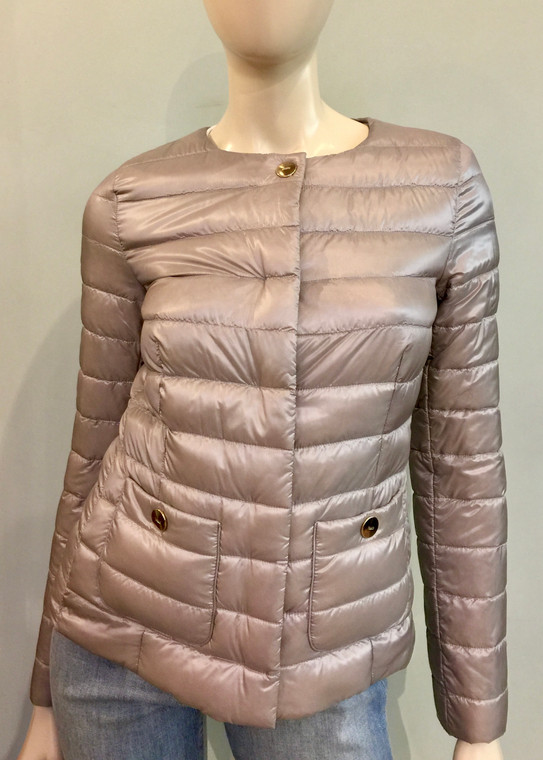 Herno Ultralight Fitted Jacket with Pockets in Silver