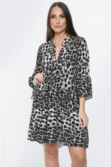 Animal Print Tier Dress (Two Colours)