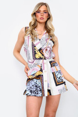 Blazer Style Playsuit With Bag (Four Colours)