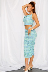 Ruched Skirt Two Piece Set Co-Ord's (Three Colours)