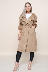 Faux Sued Trench (Four Colours)