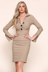 Mini Fitted Dress (Two Colours)