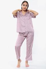 Satin Printed PJ Pyjama Set Trousers