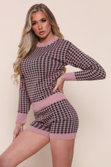 Houndstooth Knitted Co-Ord Set