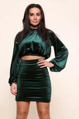 Velour Skirt Top Co-Ord Set