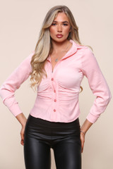 Fitted Ruched Front Shirt