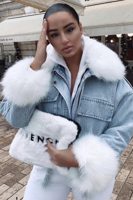 Faux Fur Denim Jacket (Three Colours)