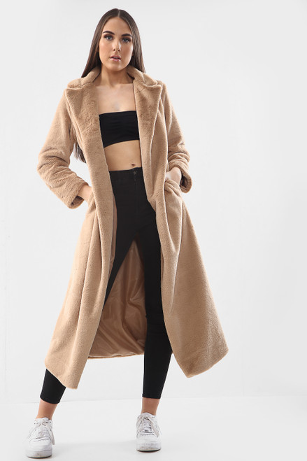 Long Line Soft Faux Fur Coat (Six Colours)