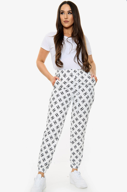 DD Printed Tie Waist Joggers (Two Colours)