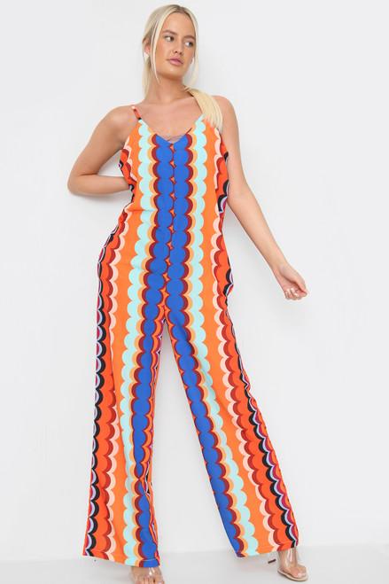 Geometric Print Jumpsuit (Five Colours)