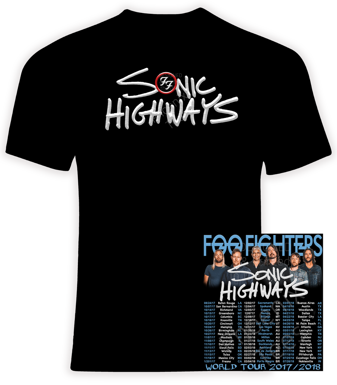 foo fighters australian tour t shirt