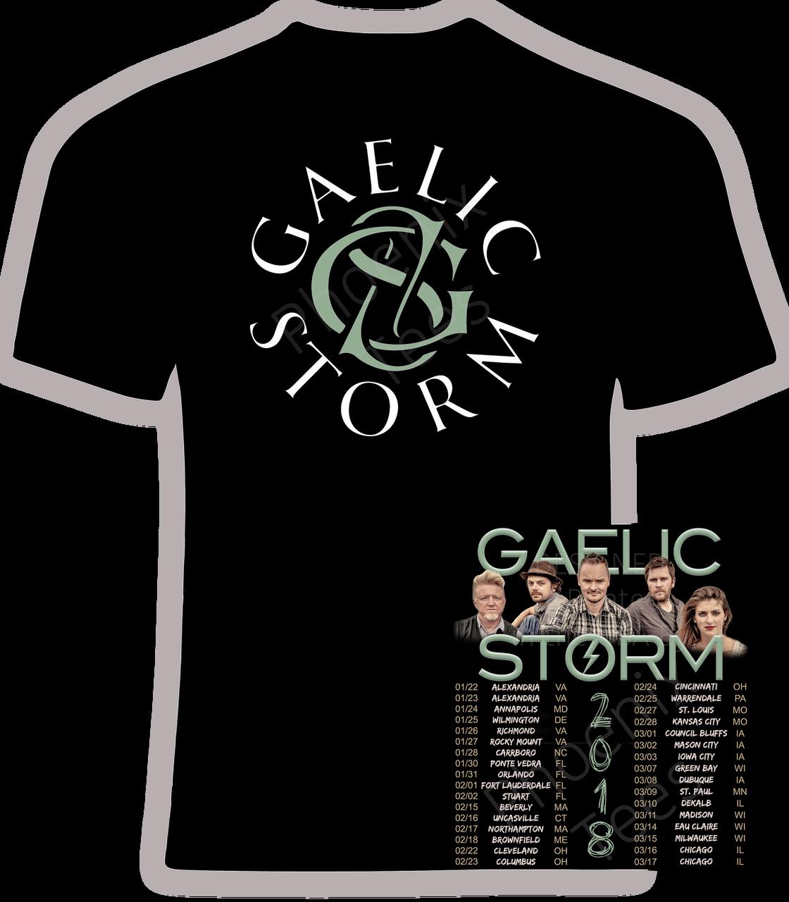 Gaelic Storm 2018 Concert T Shirt Phoenix Tees
