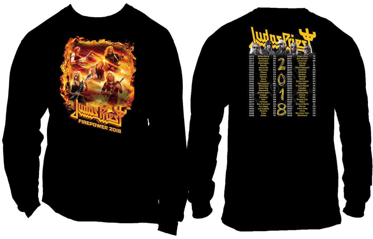 Judas Priest 2018 Concert T Shirt Phoenix Tees