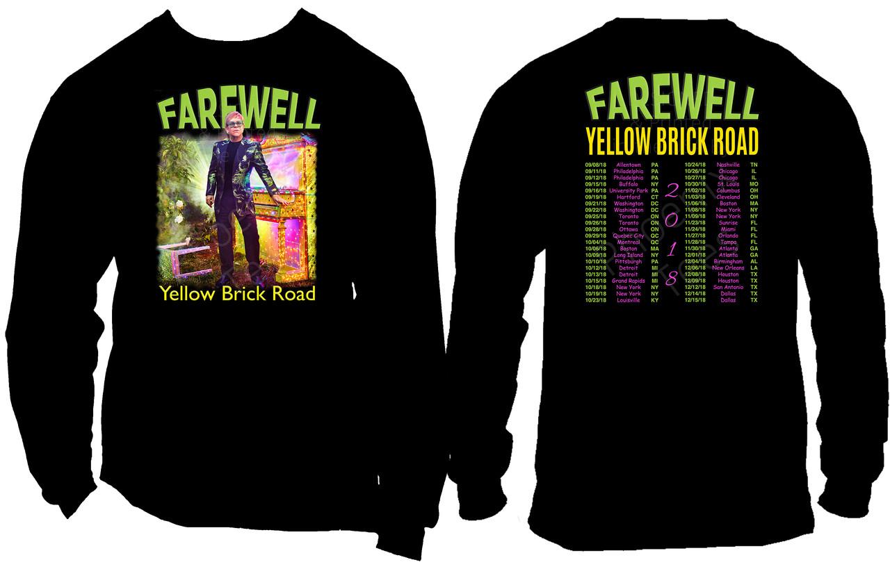Elton John Farewell Yellow Brick Road Gift Long Sleeve T-Shirt
