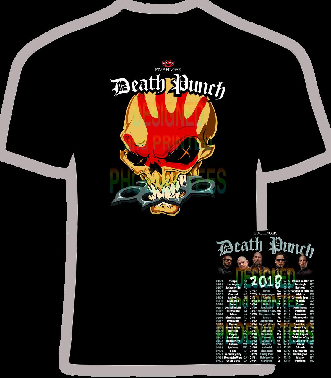 Five Finger Punch 2018 Concert Tour T Shirt