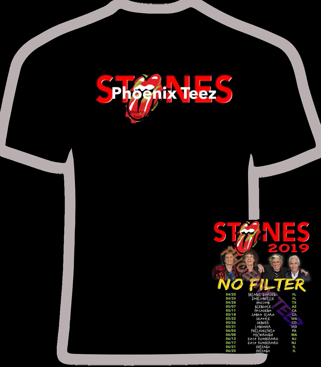 6ac663be10c3df Rolling Stones 2019 Concert Tour  No Filter  - Phoenix Tees