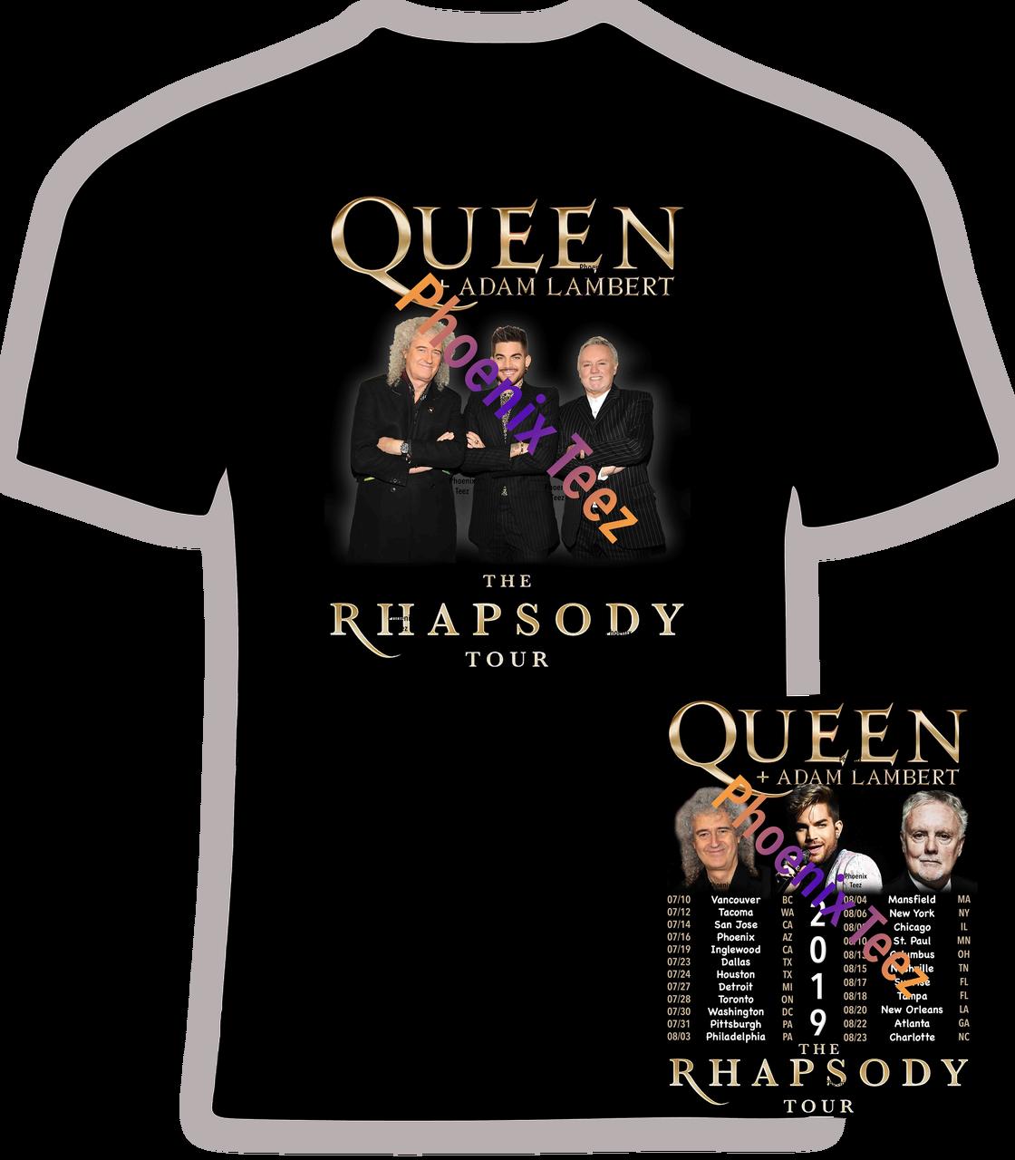Queen And Adam Lambert 2019 Rhapsody Tour 1 Phoenix Tees
