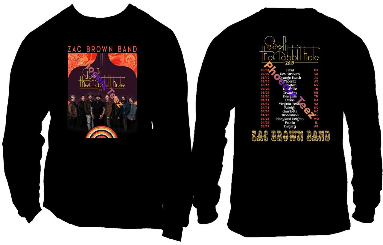 ac0732da Zac Brown Band 2019 Down the Rabbit Hole Concert Tour - Phoenix Tees