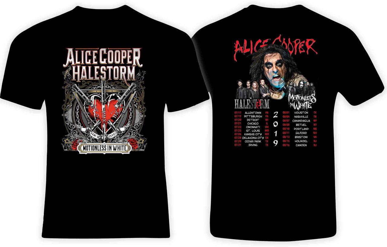 Halestorm summer tour concert 2019 tee shirt S-3XL Alice Cooper