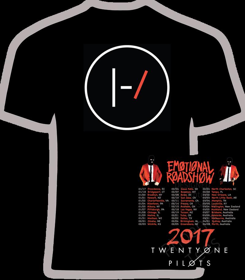 21 Pilots - 2017 Emotional Roadshow Concert Tour Tee