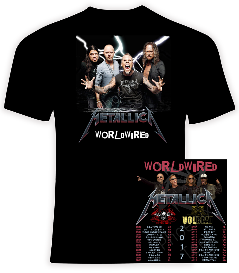 Metallica WorldWired 2017 Concert Tour with Avenged Sevenfold and Volbeat